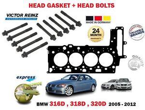 FOR-BMW-316D-318D-320D-1995cc-2005-2013-CYLINDER-HEAD-GASKET-10-head-BOLT-SET