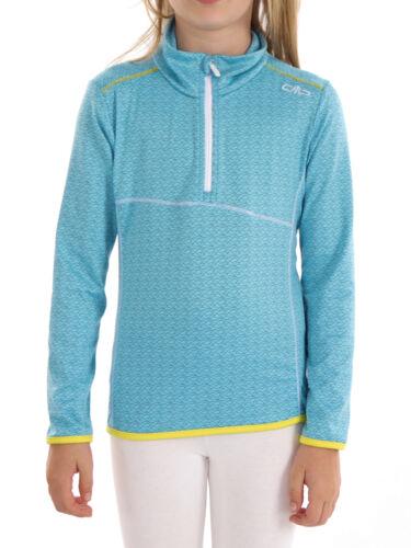 CMP sweatoberteil Fonction Shirt Col Chemise Bleu Motif Stretch