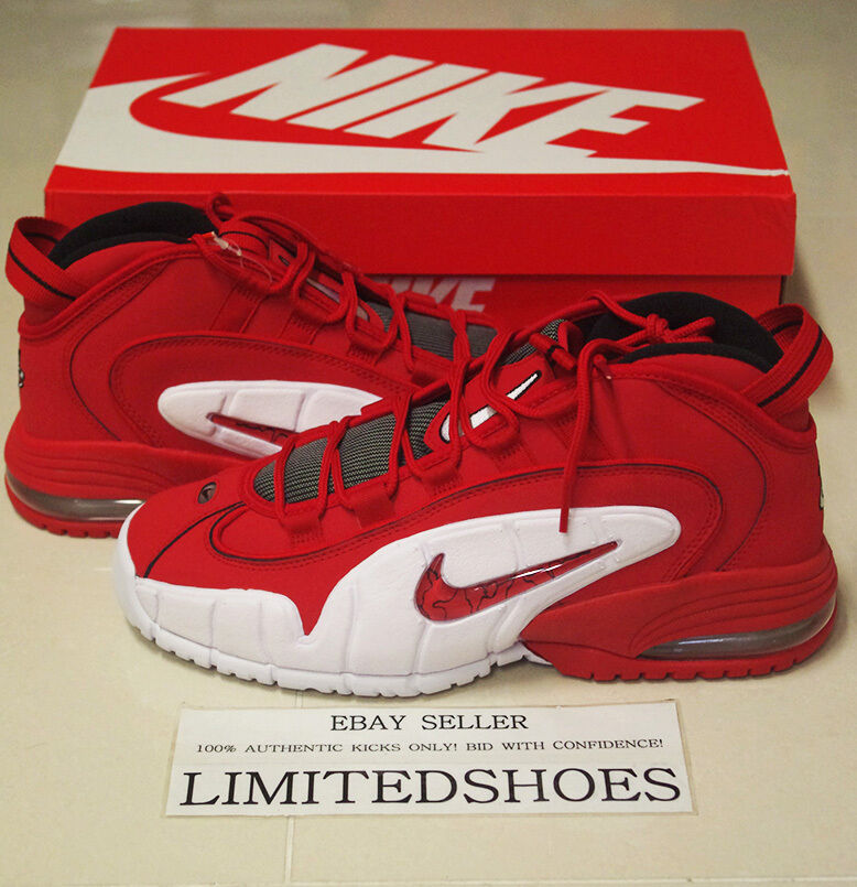 NIKE AIR MAX PENNY 1 UNIVERSITY RED WHITE 685153-600 US 6 SIZE orlando magic