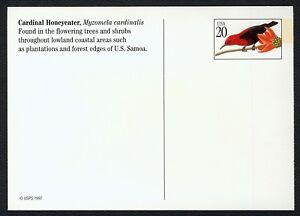 #UX296 20c Tropical Aves: Cardenal Honeyeater, Nuevo Cualquier 5=