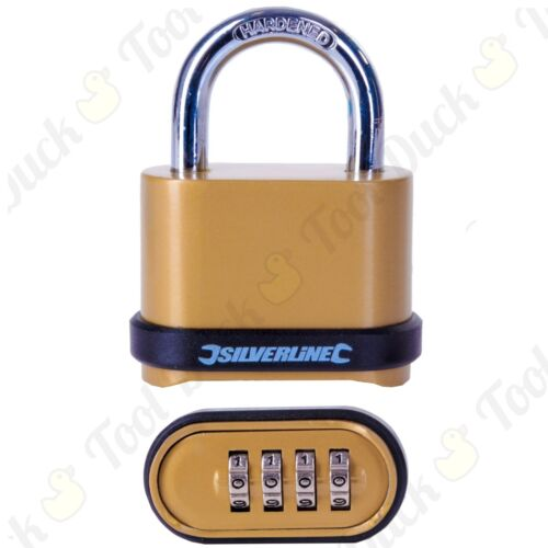 STRONG 50mm COMBINATION 4 DIGIT PADLOCK Theft Resistant Shackle HEAVY DUTY Lock