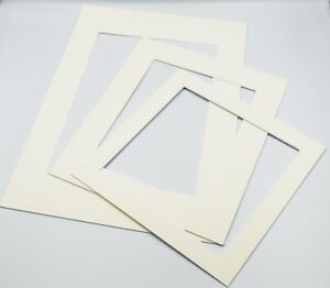 Ivory-Photo-Picture-Frame-Mounts-Bevel-Cut-1-4mm-White-Core-Mount-board