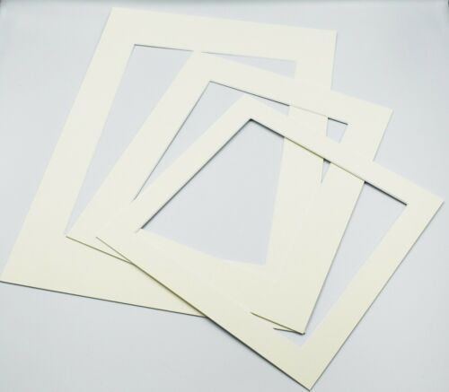Ivory Photo Picture Frame Mounts Bevel Cut 1.4mm White Core Mount board