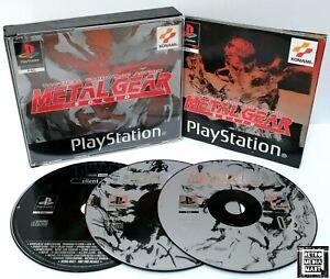 Metal Gear Solid ~ Playstation ps1 Black Label * ausgezeichnete CIB Silent Hill Demo *