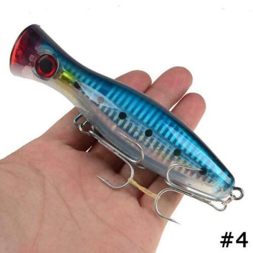 M7Y6 Big Trol M2W9 Big Mouth Popper Lure Top Wasserfischenköder 120mm Game 40g