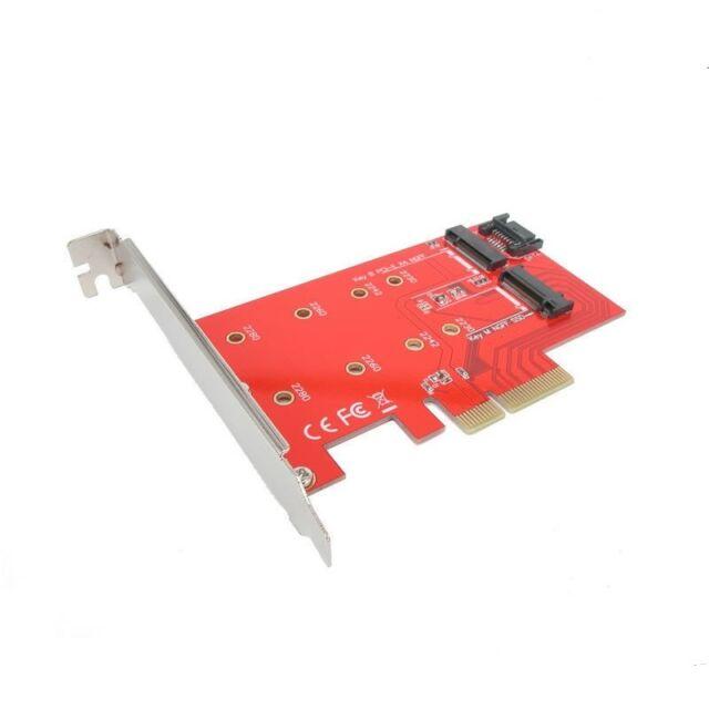 Dual M.2 (B Key and M Key) to PCI-E x4 and SATA 6G Expansion Card Adapter