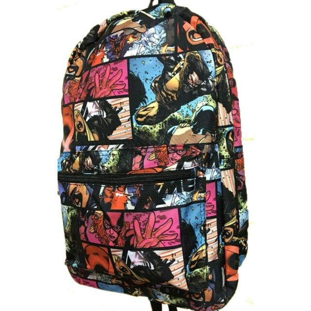 Marvel X-Men All Over Print Laptop Backpack School Bag - Retro Comic Characters