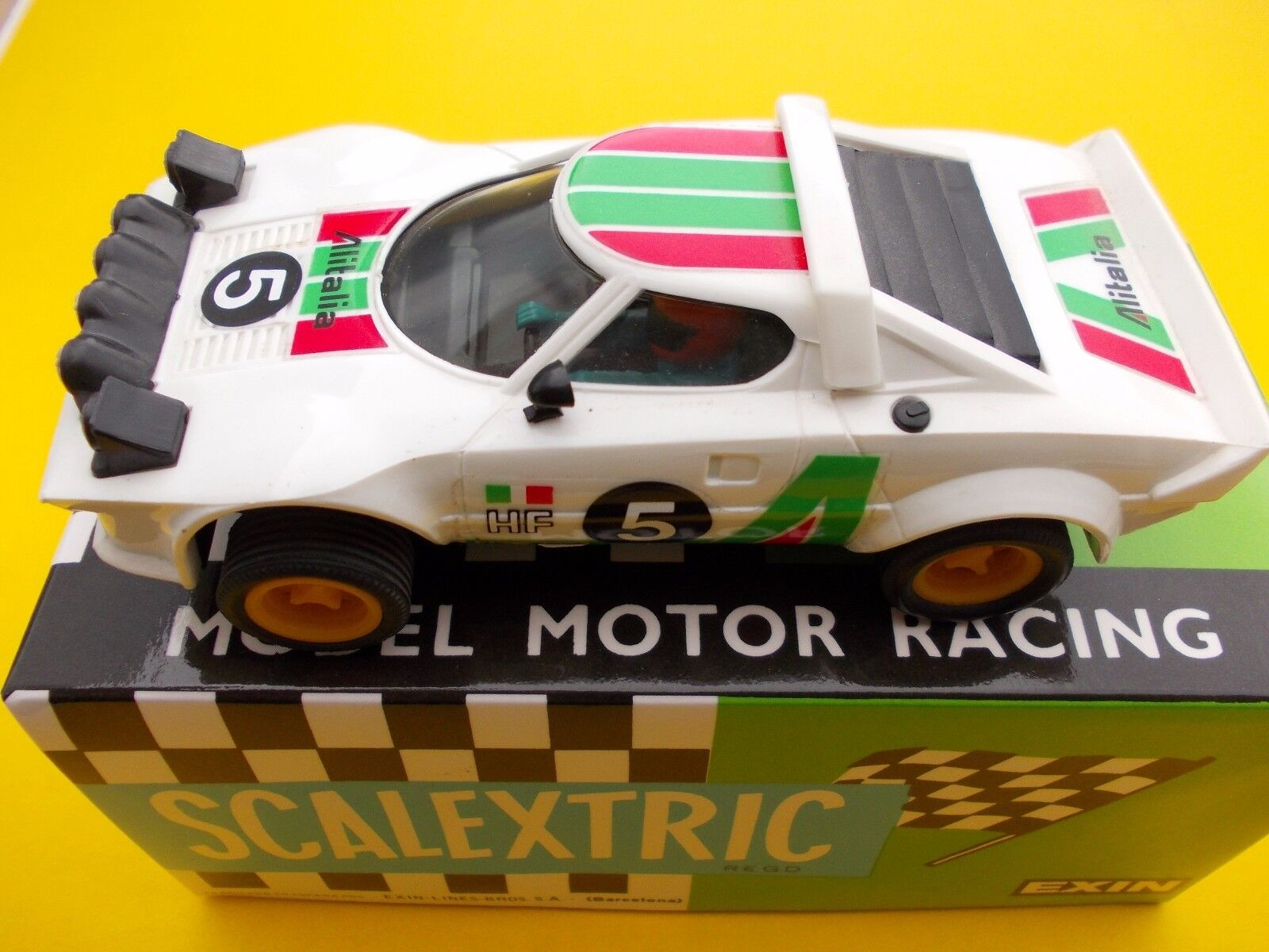 VINTAGE  SCALEXTRIC EXIN 4055 LANCIA STRATOS WHITE IN PERFECT CONDITION
