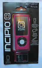 INCIPIO DERMASHOT iPOD NANO 5G PINK CASE + SURFACE PROTECTOR & VIDEO STAND