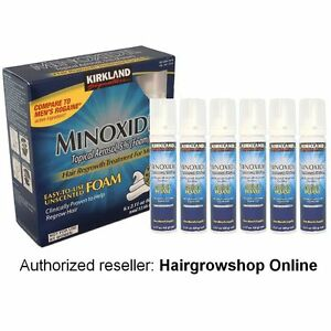 Kirkland Minoxidil 5% Foam EU SHIPPING Hair Regrowth Treatment 6 Month or more