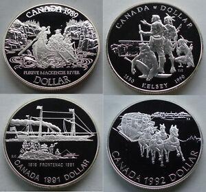 1992 Canada $1 Proof Silver Dollar