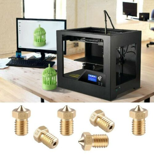 3D Printer V6 M6 thread Nozzle 0.2 0.25 0.3 0.4 0.5 0.6 0.8 1.0mm for 1.75mm lot