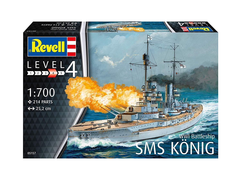 WWI Battleship SMS König, Revell Ship Model Kit 1 700, 05157
