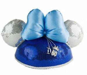 445a0149df788 Details about NEW DISNEYLAND 60TH DIAMOND CELEBRATION MINNIE MOUSE EARS  HAT/ANNIVERSARY