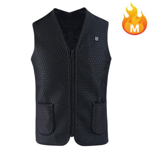 S-XXXL Heated Vest USB Electric Heating Waistcoat Heated Clothing【45℃//55℃//65℃】US