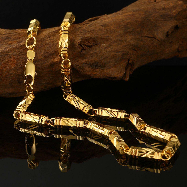 Luxus Goldkette Ketten Herren 6mm Halskette Echt 999er
