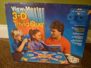 view master 3 d trivia quiz board game 1984 nib reel complete