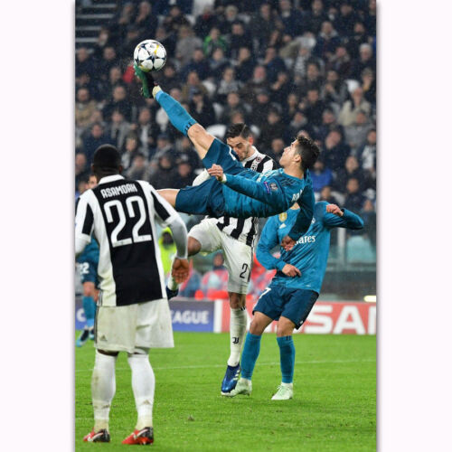 Y-001 Cristiano Ronaldo Top Football Star Power In Match Silk Poster 24x36 40in