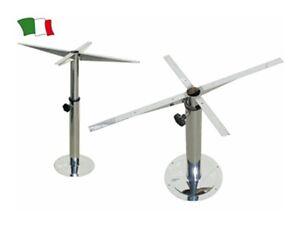 Supporto tavolo in acciaio inox telescopico e girevole camper barche nautica ebay - Supporto girevole per tavolo ...