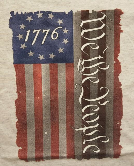 4th of July United States Constitution Betsy Ross Flag Mens T Shirt