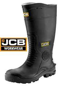 c24111bdc69 Details about JCB MENS WELLIES HYDROMASTER SAFETY WORK WELLINGTONS STEEL  TOE CAP MIDSOLE SIZE