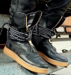 buy online 146a4 36cbf NIKE SF AIR FORCE 1 HI Boot AA1128-001 Black Size UK 7.5 EU 42 US ...