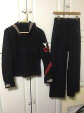 US NAVY  38 Shirt Uniform Wool 13 Button CrackerJack Trousers W28 Pants Hat