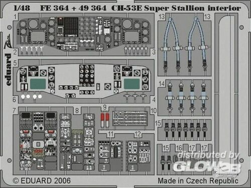 Eduard Accessories FE364 CH-53E Super Stallion interior Academy MRC-Bausatz
