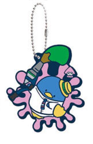 Splatoon X Sanrio Tuxedo Sam Rubber Key Chain Anime Licensed NEW