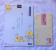 ■New■Japanese /Letter Pad (20) & Envelopes(10) Set.Washi.Stationery.Flower