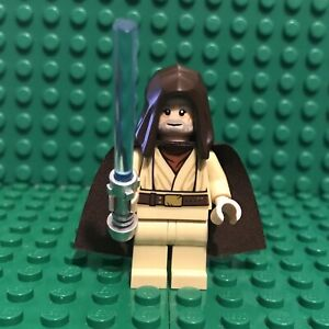 LEGO-Obi-Wan-Kenobi-minifigure-Star-Wars-sw1046-75246-old-Ben-hood-cape-Genuine