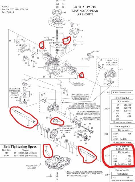 New Genuine Oem Tuff Torq Axle Shaft Repair Kit For K46 Transmission 1a646099891
