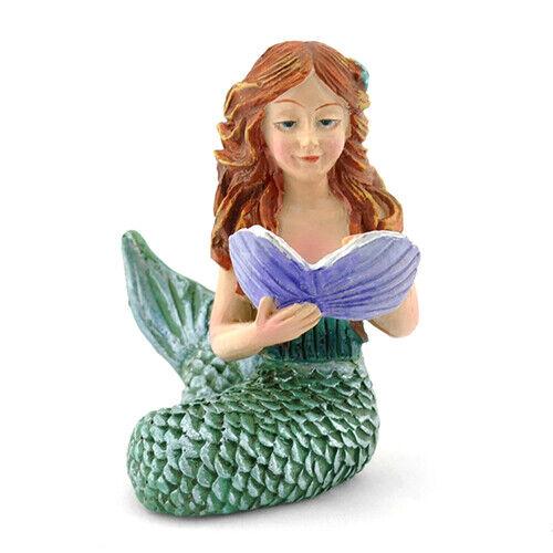 Miniature Dollhouse FAIRY GARDEN - Reading Mermaid - Accessories