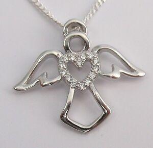 Schutzengel Kettenanhänger Engel Anhänger Echt 925 Silber mit Echter Silberkette