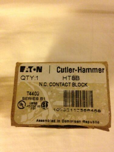EATON//CUTLER HAMMER HT8B CONTACT BLOCK T4408 SERIES B1