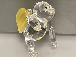 Swarovski-Figurine-Gorille-avec-Bananes-6-5-Cm-Parfait-Etat