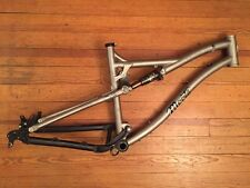 Moots Divide Titanium Full Suspension Mountain Bike Frame USA 18""