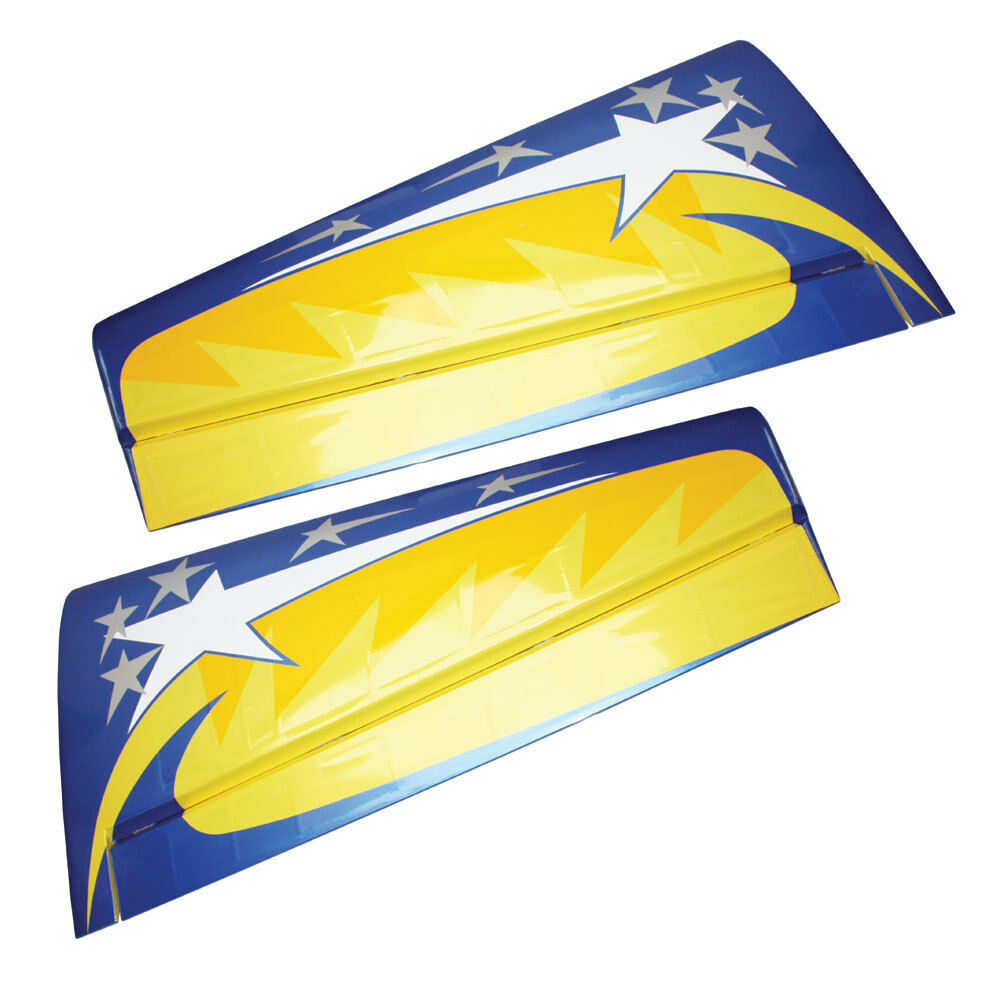 Pilot-RC 73in Yak-54 Wingset with Ailerons (Yellow bluee Star)
