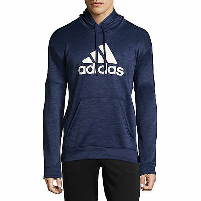 NWT ADIDAS Big & Tall Mens Climawarm Athletic Sweatshirt NAVY BLUE WHITE | eBay