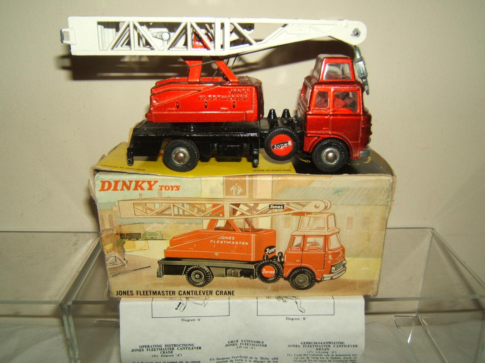 DINKY TOYS MODEL No.970      JONES FLEETMASTER    CANTILEVER CRANE        VN MIB