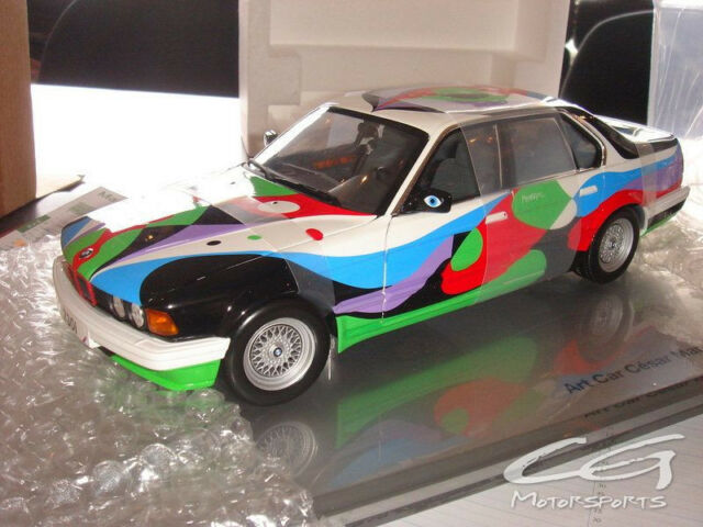 BMW art car , rare collector , Cesar Manrique BMW 730i , limited edition, 1:18
