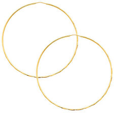 14k Yellow Gold 1.5mm Polished Round Endless Hoop Earrings