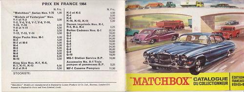 Matchbox 1964 catalogue annuel  FRANCE TOP  Dans votre attente