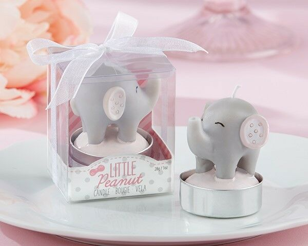 48 rose Little Peanut Elephant Candle Baby Shower Birthday Party Gift Favors