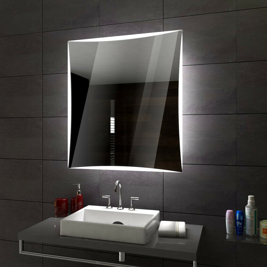 Lisbonne éclairé del Miroir salle salle salle de Bain Led personnalisé taille versions fb8d7a