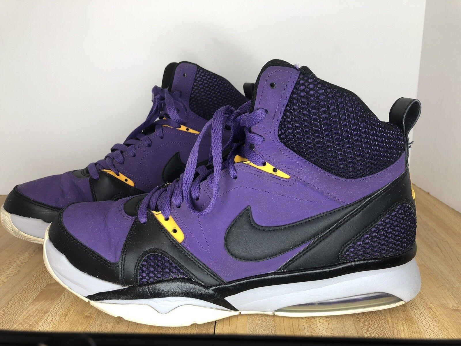 Nike Force LA LAKERS PURPLE gold shoes 55087-500 Size 12