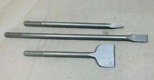 SDS MAX 3pc Chisel Set Hilti TE56 TE76 TE76P TE76-ATC TE80 Breaker drill steels