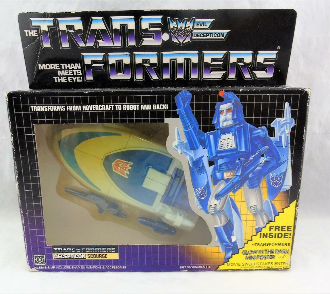Transformers Original G1 1986 Decepticon Scourge MOSC MIB Unused Sealed Contents