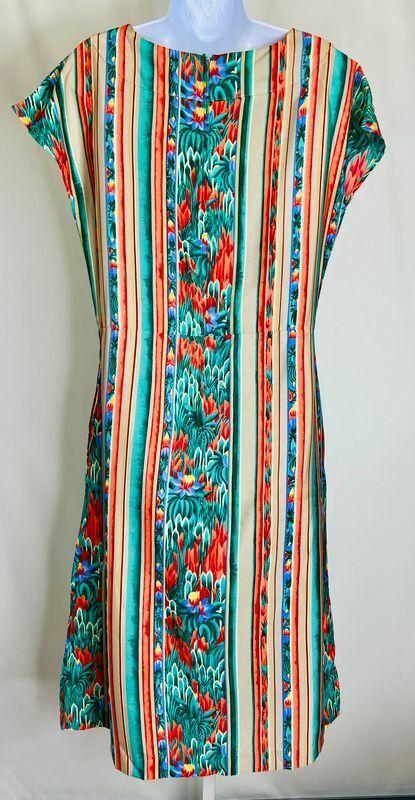 Roncelli Vintage Multicolor Striped & Floral Prin… - image 2