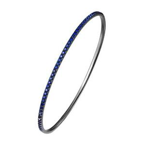 Blue-Spinel-Stackable-Oval-Bangle-Bracelet-Black-Rhodium-Plated-Sterling-Silver